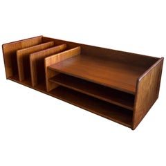 Danish Modern Desk Organizer / Letter Tray in Teak by Nordisk Andels-Eksport
