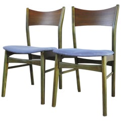 Danish Modern Dining Chair Stained in an Emerald Color, 1960s