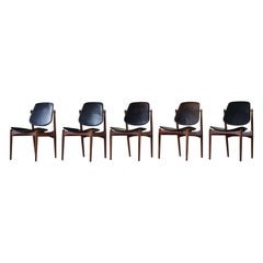 Danish Modern Dining Chairs by Arne Vodder for France & Søn, Set of 5