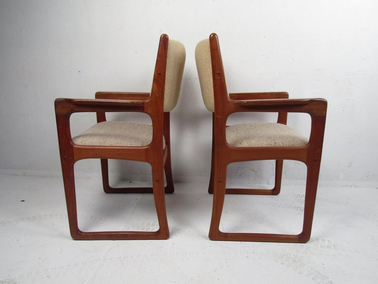 Mid-Century Modern Danish Modern Dining Chairs by Benny Linden, Set of 12 For Sale