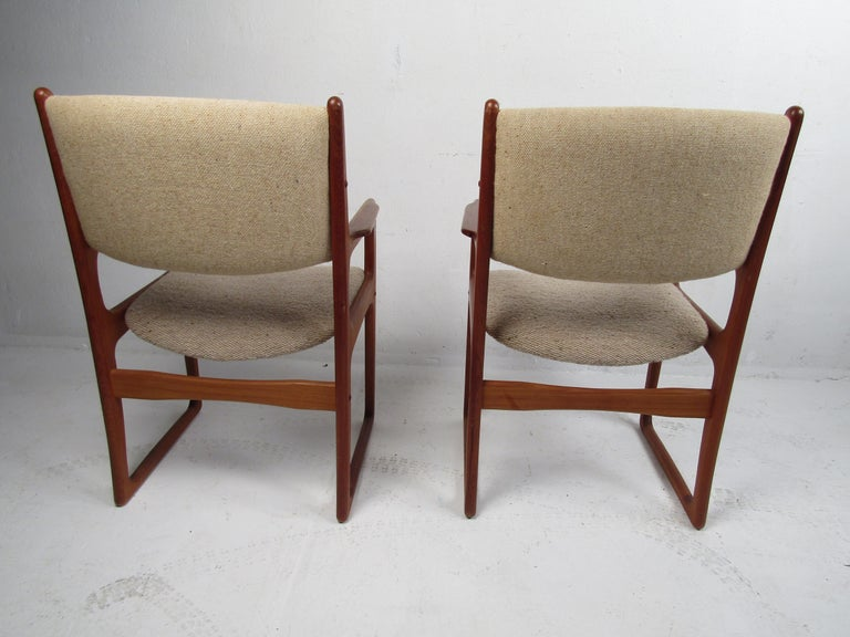 20th Century Danish Modern Dining Chairs by Benny Linden, Set of 12 For Sale