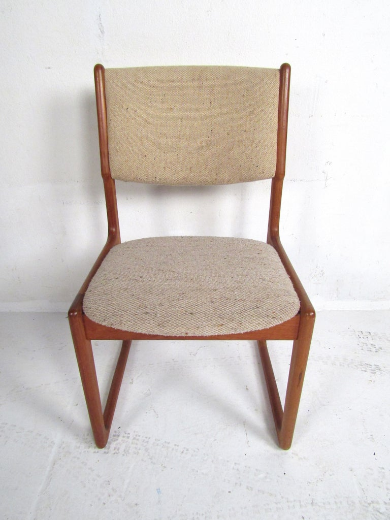 Upholstery Danish Modern Dining Chairs by Benny Linden, Set of 12 For Sale