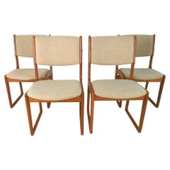 Danish Modern Dining Chairs by Benny Linden, Set of 4