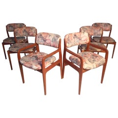 Danish Modern Dining Chairs by Benny Linden Set of 6