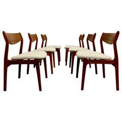 Danish Modern Dining Chairs by Erik Buch
