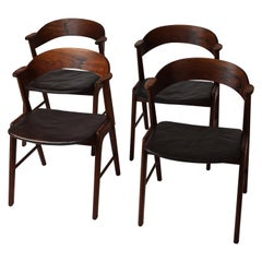 Danish Modern Dining Chairs by Kai Kristiansen for Korup, Model 32 in Rosewood