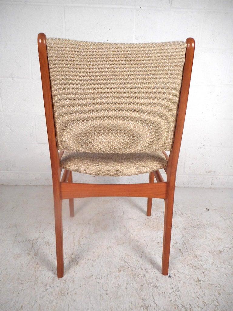 Teak Danish Modern Dining Chairs, Set of 6 For Sale