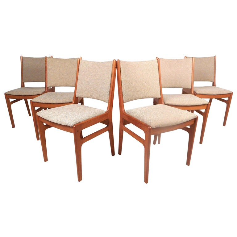 Danish Modern Dining Chairs, Set of 6 For Sale