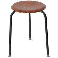 """Danish Modern """"Dot"""" Stool Designed by Arne Jacobsen for Fritz Hansen"""