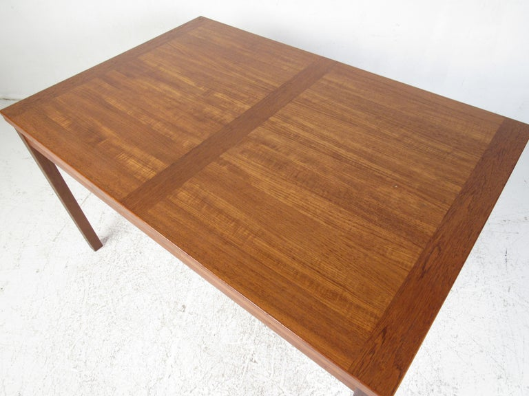 Danish Modern Draw Leaf Dining Table by Ansager Mobler For Sale 8