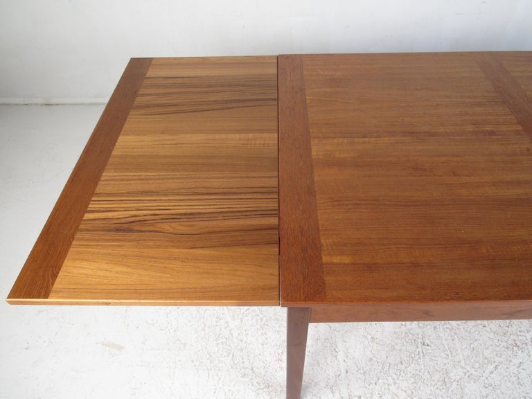 Danish Modern Draw Leaf Dining Table by Ansager Mobler For Sale 9