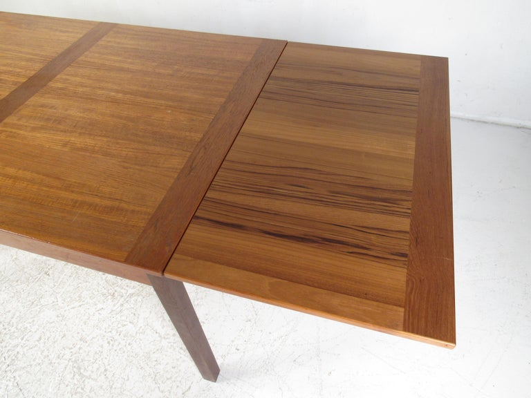 Danish Modern Draw Leaf Dining Table by Ansager Mobler For Sale 10