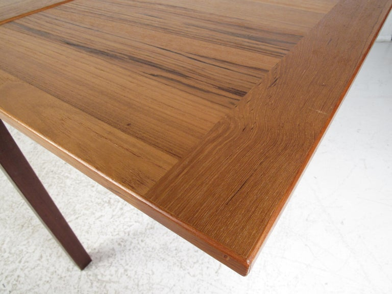 Danish Modern Draw Leaf Dining Table by Ansager Mobler For Sale 11