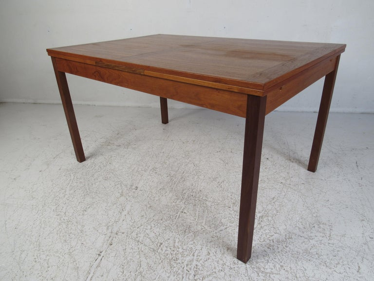Mid-Century Modern Danish Modern Draw Leaf Dining Table by Ansager Mobler For Sale