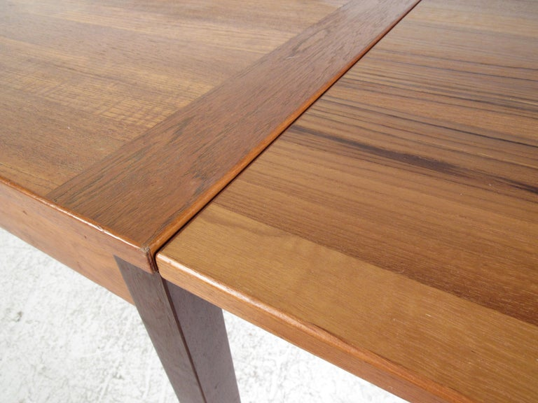 Late 20th Century Danish Modern Draw Leaf Dining Table by Ansager Mobler For Sale