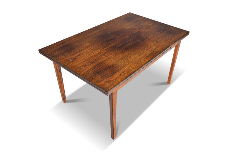 Danish Modern Draw Leaf Rosewood Dining Table by E.W. Bach For Sale 1