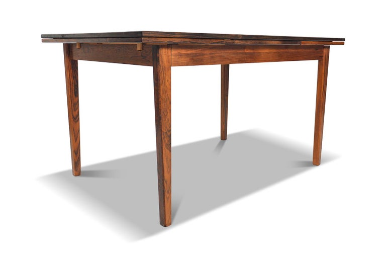 Danish Modern Draw Leaf Rosewood Dining Table by E.W. Bach For Sale 2