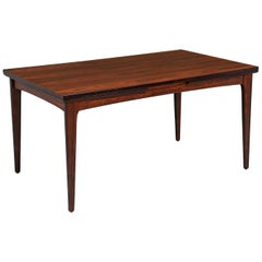 Danish Modern Draw-Leaf Rosewood Dining Table by Heltborg Møbler