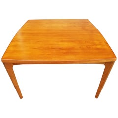 Danish Modern Draw-Leaf Square Dining Table
