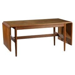 Danish Modern Drop-Leaf Dining Table