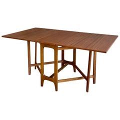 Danish Modern Drop-Leaf Teak Dining Table