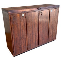 Danish Modern Dry Mini Bar Cabinet in Rosewood by Dyrlund