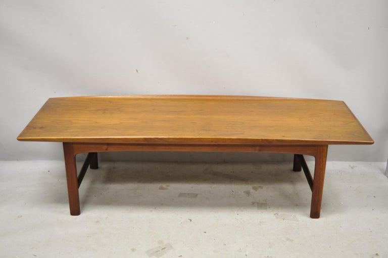 Danish Modern Dux Folke Ohlsson Teak Rectangular Teak Coffee Table For Sale 6