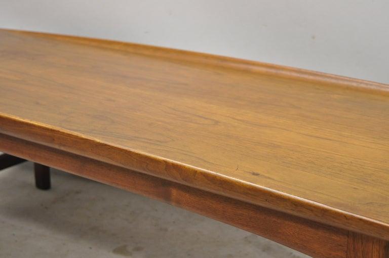 Mid-Century Modern Danish Modern Dux Folke Ohlsson Teak Rectangular Teak Coffee Table For Sale