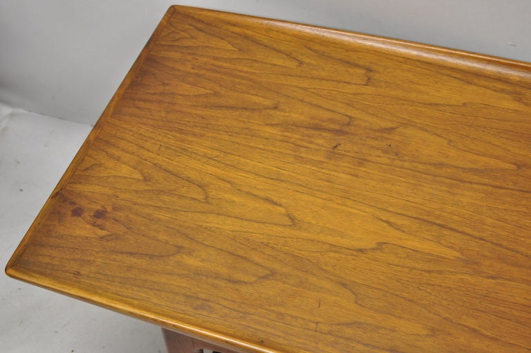 Swedish Danish Modern Dux Folke Ohlsson Teak Rectangular Teak Coffee Table For Sale
