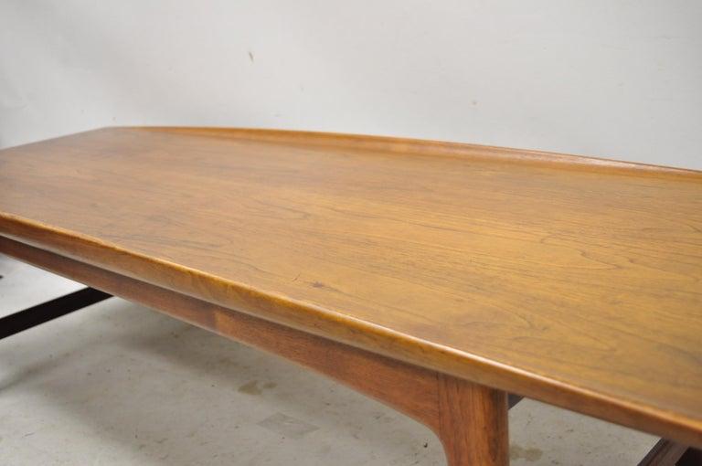 Danish Modern Dux Folke Ohlsson Teak Rectangular Teak Coffee Table For Sale 3