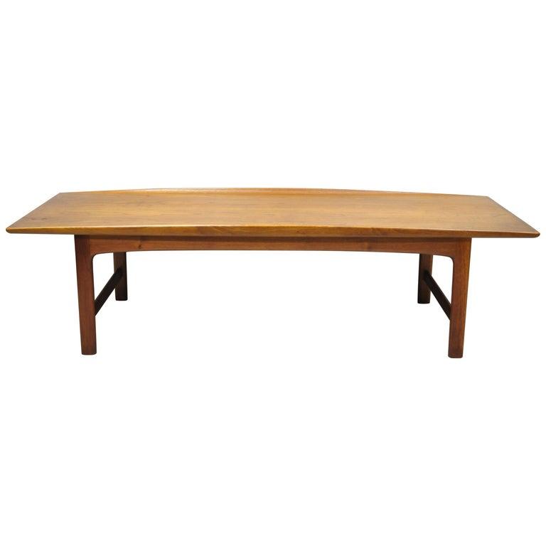 Danish Modern Dux Folke Ohlsson Teak Rectangular Teak Coffee Table For Sale