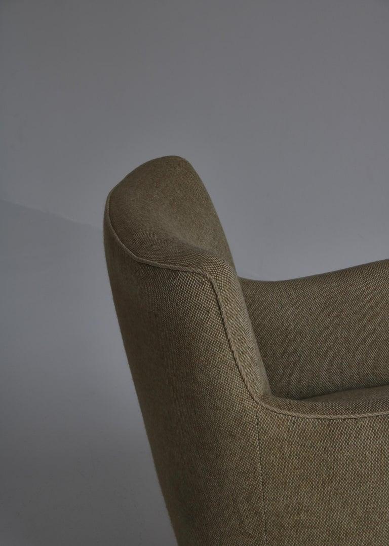 Danish Modern Easy Chair in Beech & Wool Upholstery by Hvidt & Mølgaard, 1950s For Sale 6