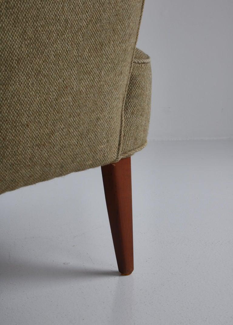 Danish Modern Easy Chair in Beech & Wool Upholstery by Hvidt & Mølgaard, 1950s For Sale 7