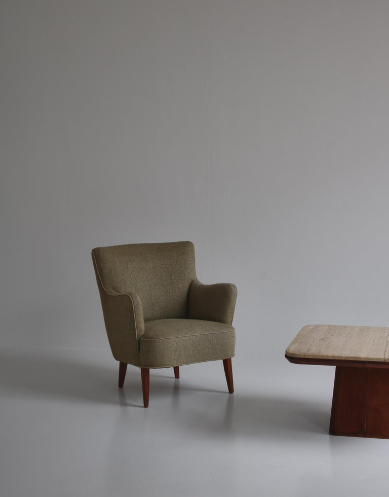 Danish Modern Easy Chair in Beech & Wool Upholstery by Hvidt & Mølgaard, 1950s For Sale 9