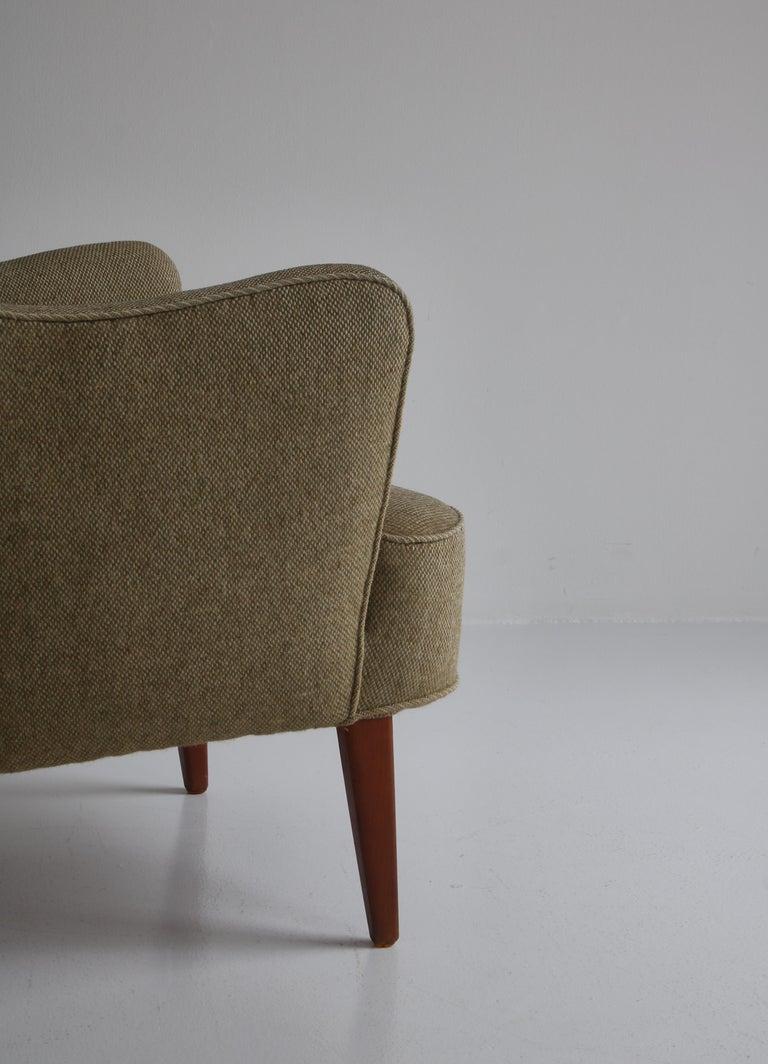Danish Modern Easy Chair in Beech & Wool Upholstery by Hvidt & Mølgaard, 1950s For Sale 1