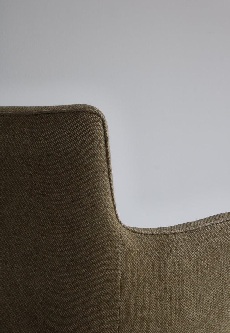 Danish Modern Easy Chair in Beech & Wool Upholstery by Hvidt & Mølgaard, 1950s For Sale 2