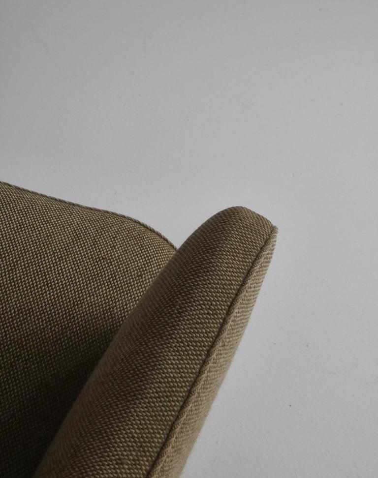 Danish Modern Easy Chair in Beech & Wool Upholstery by Hvidt & Mølgaard, 1950s For Sale 4
