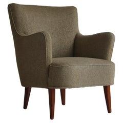 Danish Modern Easy Chair in Beech & Wool Upholstery by Hvidt & Mølgaard, 1950s