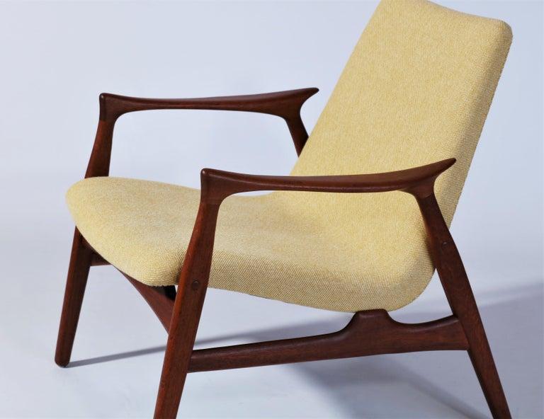 Scandinavian Modern Danish Modern Easy Chair in Teak Wood by Arne Hovmand Olsen, Denmark, 1958