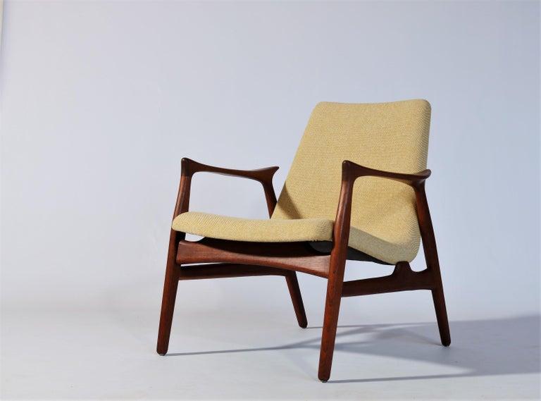 Danish Modern Easy Chair in Teak Wood by Arne Hovmand Olsen, Denmark, 1958 In Good Condition In Odense, DK