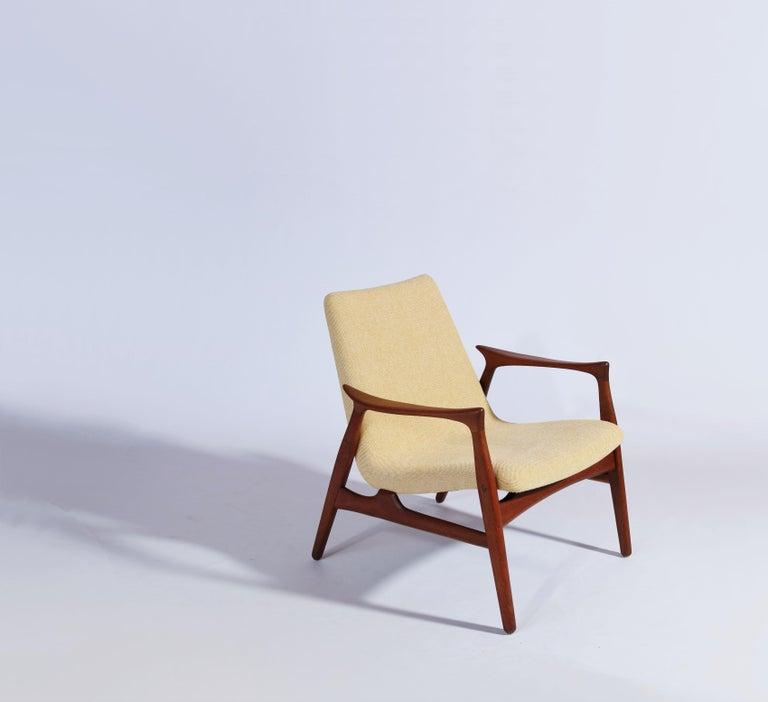 Mid-20th Century Danish Modern Easy Chair in Teak Wood by Arne Hovmand Olsen, Denmark, 1958