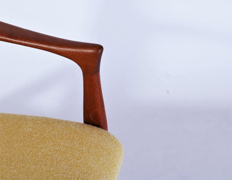 Danish Modern Easy Chair in Teak Wood by Arne Hovmand Olsen, Denmark, 1958 1