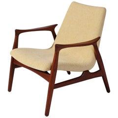 Danish Modern Easy Chair in Teak Wood by Arne Hovmand Olsen, Denmark, 1958
