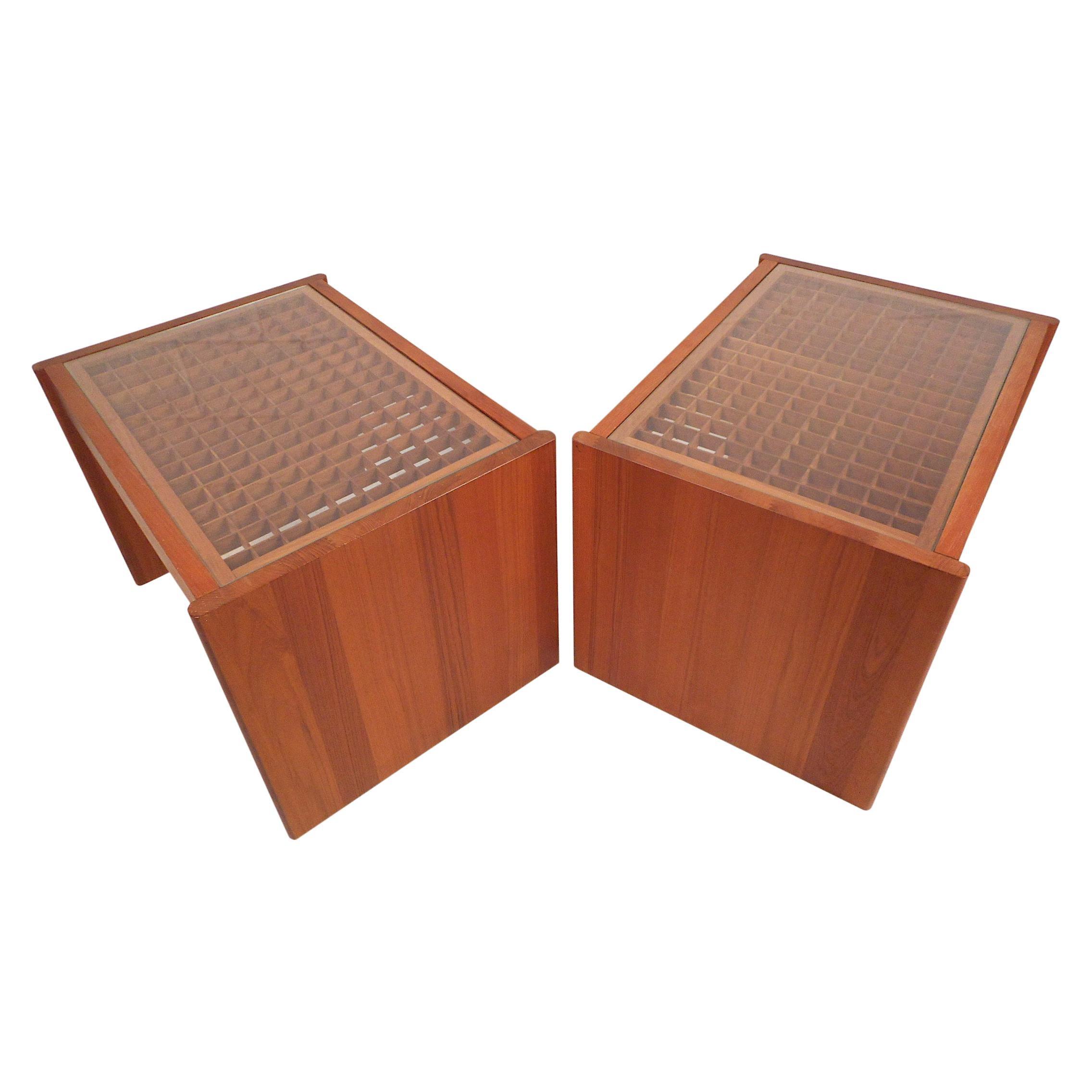 Danish Modern End Tables by Komfort