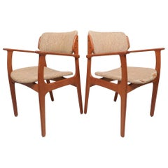 Danish Modern Erik Buch No. 49 Armchairs, a Pair