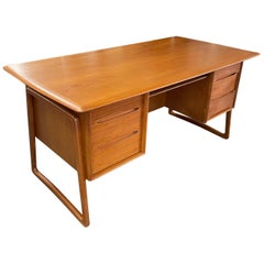 Danish Modern Executive Desk in Teak by Svend Aage Madsen for Sigurd Hansen