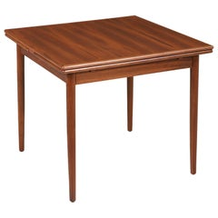Danish Modern Expanding Draw-Leaf Walnut Dining Table