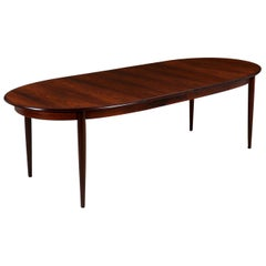 Danish Modern Expanding Rosewood Dining Table by Gudme Møbelfabrik