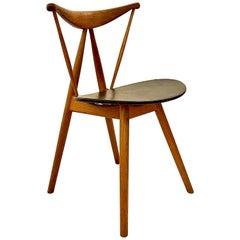 Danish Modern Extreme Rare Piano Chair by Vilhelm Wohler