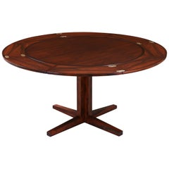 "Danish Modern ""Flip-Flap"" Rosewood Dining Table by Dyrlund"